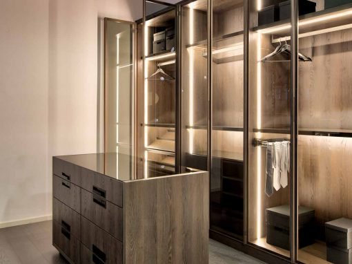 Linear Glass wardrobe- Swiss Cottage