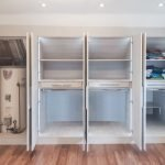 Loft Fitted furniture in Light grey finish
