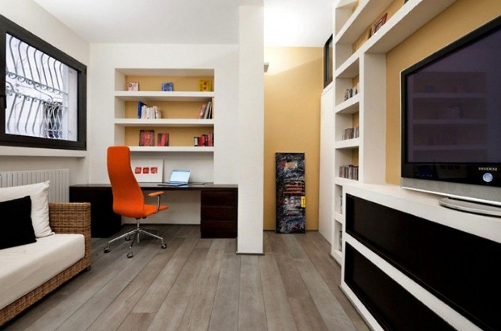 Small Modern Classic Home Study Area
