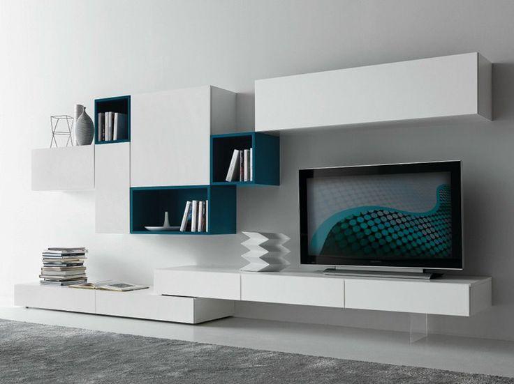 White TV unit in matt white finish