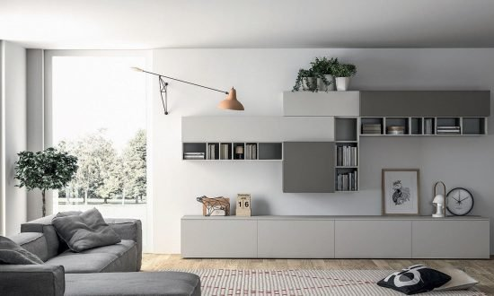 Wardrobes Living Room With Display Shelving