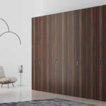 Hinged Fitted wardrobe with wood grain finish