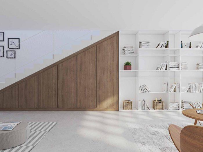 https://www.inspiredelements.co.uk/wp-content/uploads/2020/04/loft-angled-fitted-wardrobe-bokshelf-wood-grain-700x524.jpg