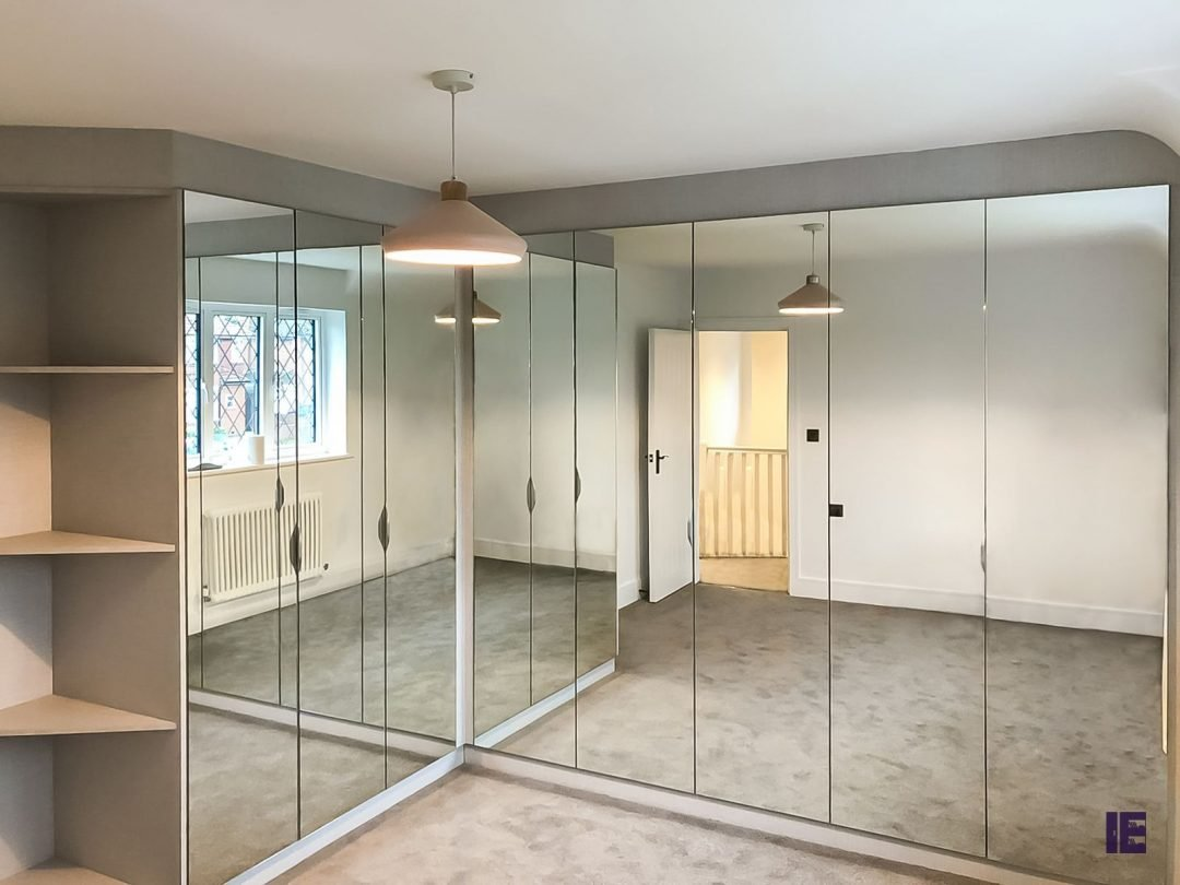 L Shape Hinged Mirror Wardrobe Mayfair - Westminster