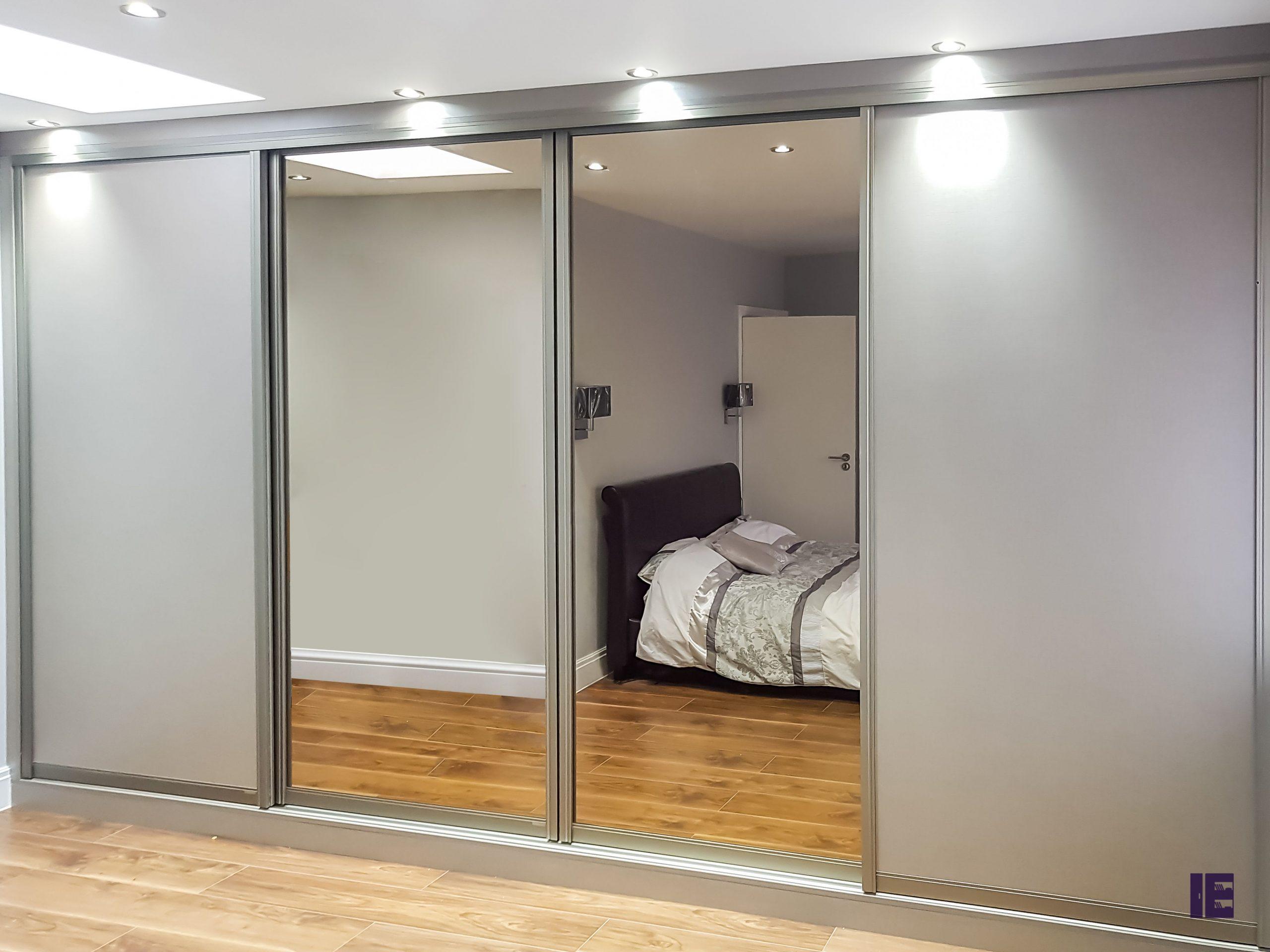 Mirror Grey Sliding Wardrobe Kentish Town - Camden