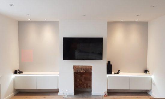 Tv Unit White Fire Place Led Chelsea London