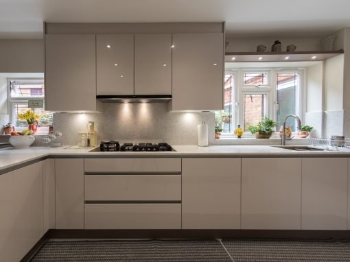 U-shaped Bespoke Modern Kitchen