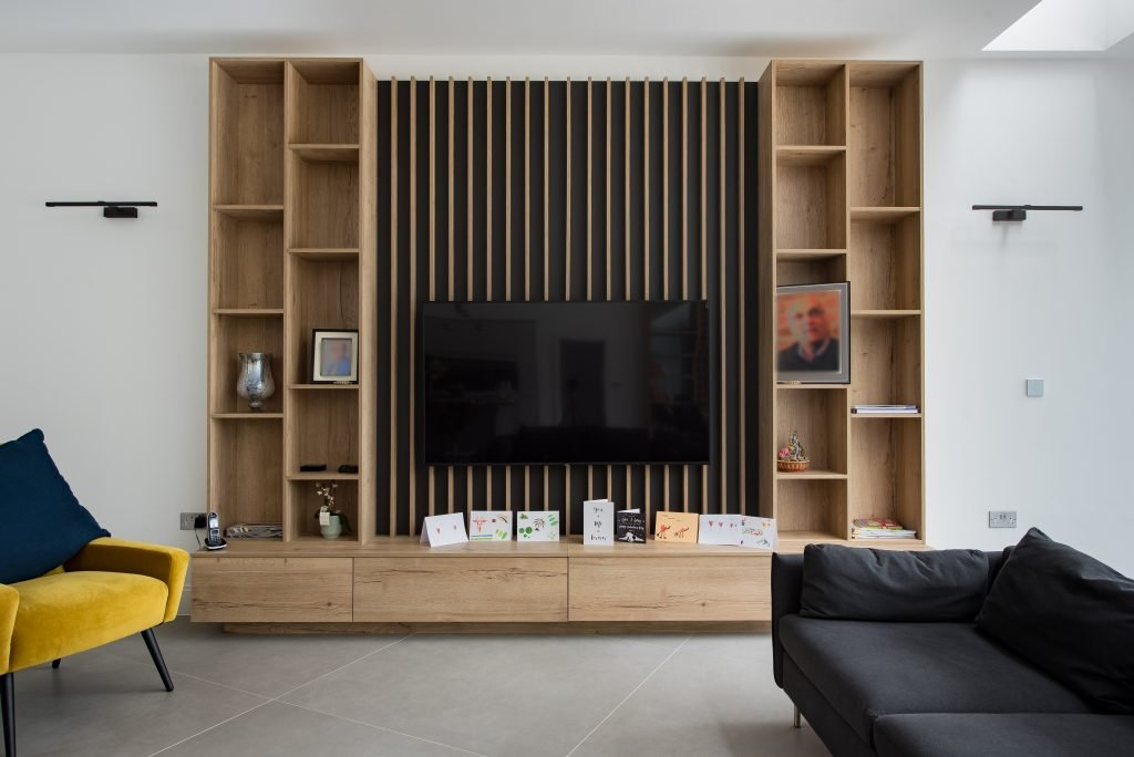 fitted wardrobes with tv space