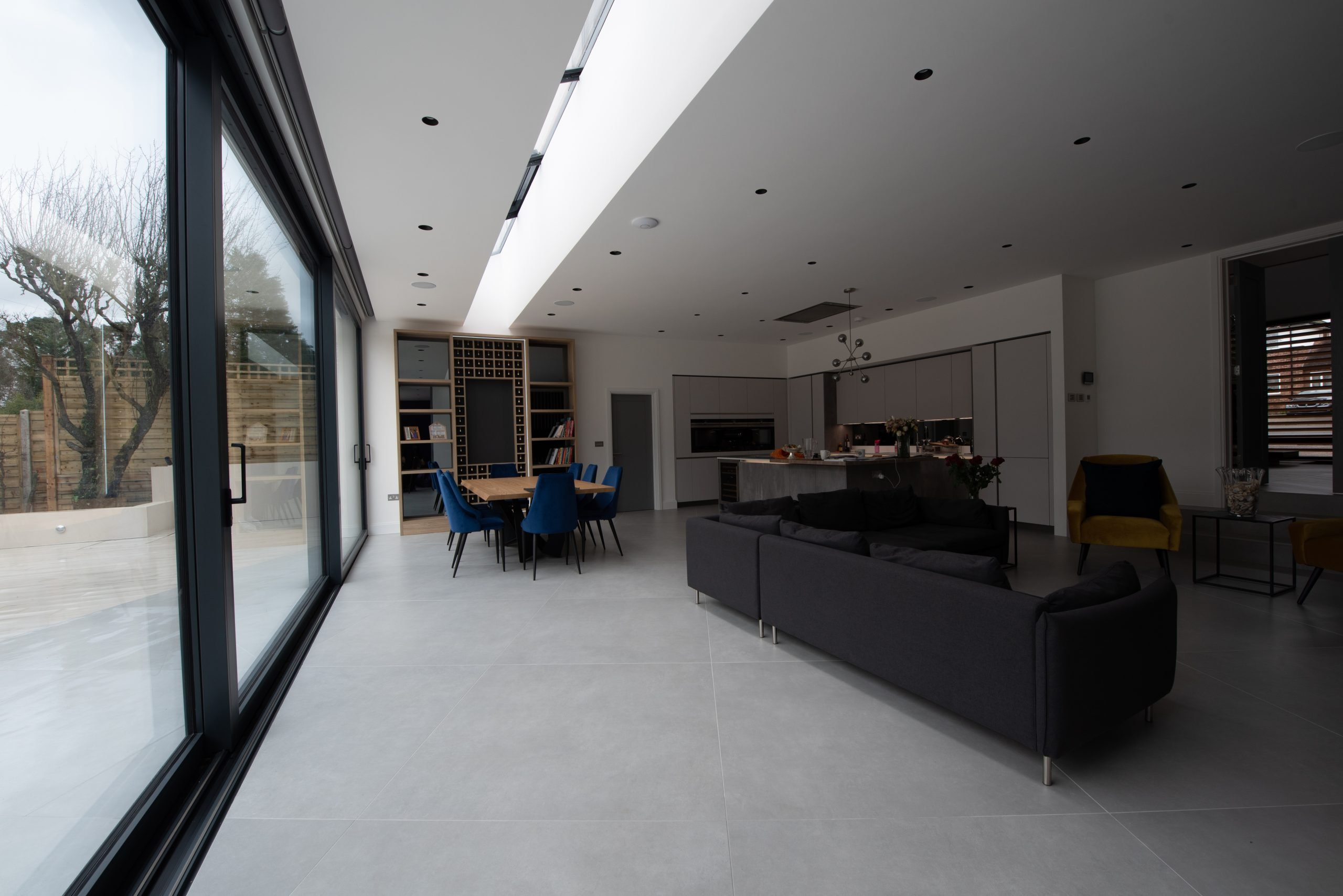 Glass Living Room of Fitted Wardrobes With Tv Space