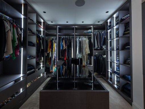 Luxury Walk-in Wardrobe and Bespoke Tv Unit  Northwood – London