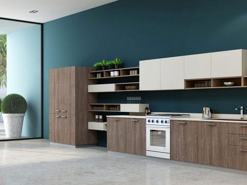 Handleless Easyline Modern Green Kitchen | Inspired Elements