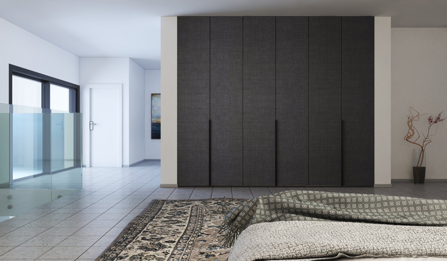 Hinged Fitted Wardrobe with Handle Penelope