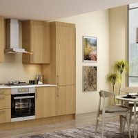 10ft Easyline kitchen with handle in Natural Oak finish