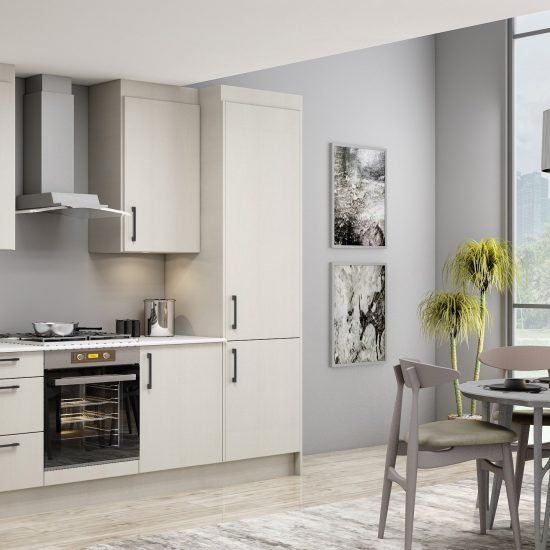 10ft Easyline kitchen with black handle in delave penelope finish