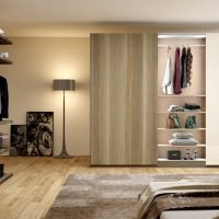 Frameless Sliding Wardrobe With Full Panel in a Combination of Samara Scuro and Cream