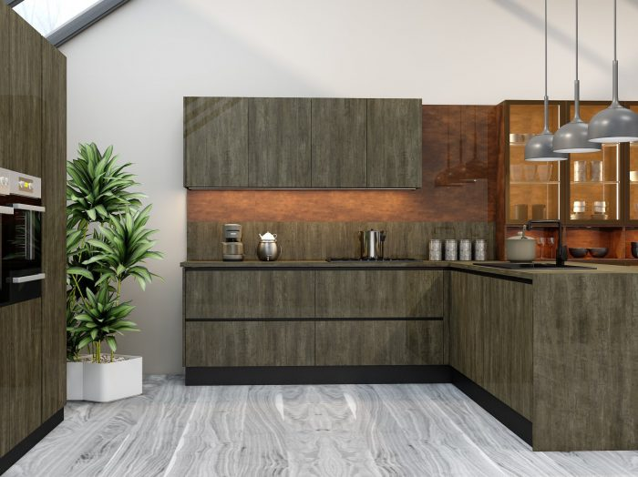 https://www.inspiredelements.co.uk/wp-content/uploads/2021/04/G-shape-Handleless-Kitchen-in-Metallo-gloss-finish-Copper-stone-finish-with-black-handle-profile_1-1-700x524.jpg