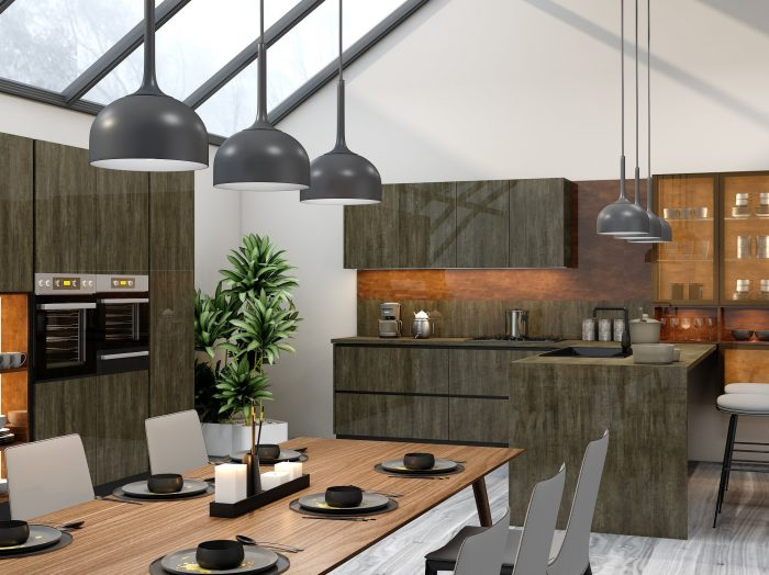 https://www.inspiredelements.co.uk/wp-content/uploads/2021/04/G-shape-Handleless-Kitchen-in-Metallo-gloss-finish-Copper-stone-finish-with-black-handle-profile_2-1-700x524.jpg