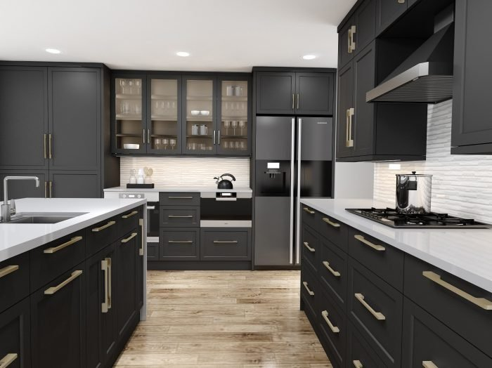 https://www.inspiredelements.co.uk/wp-content/uploads/2021/04/Shaker-style-L-shape-Kitchen-in-black-finish-with-Island1-700x524.jpg