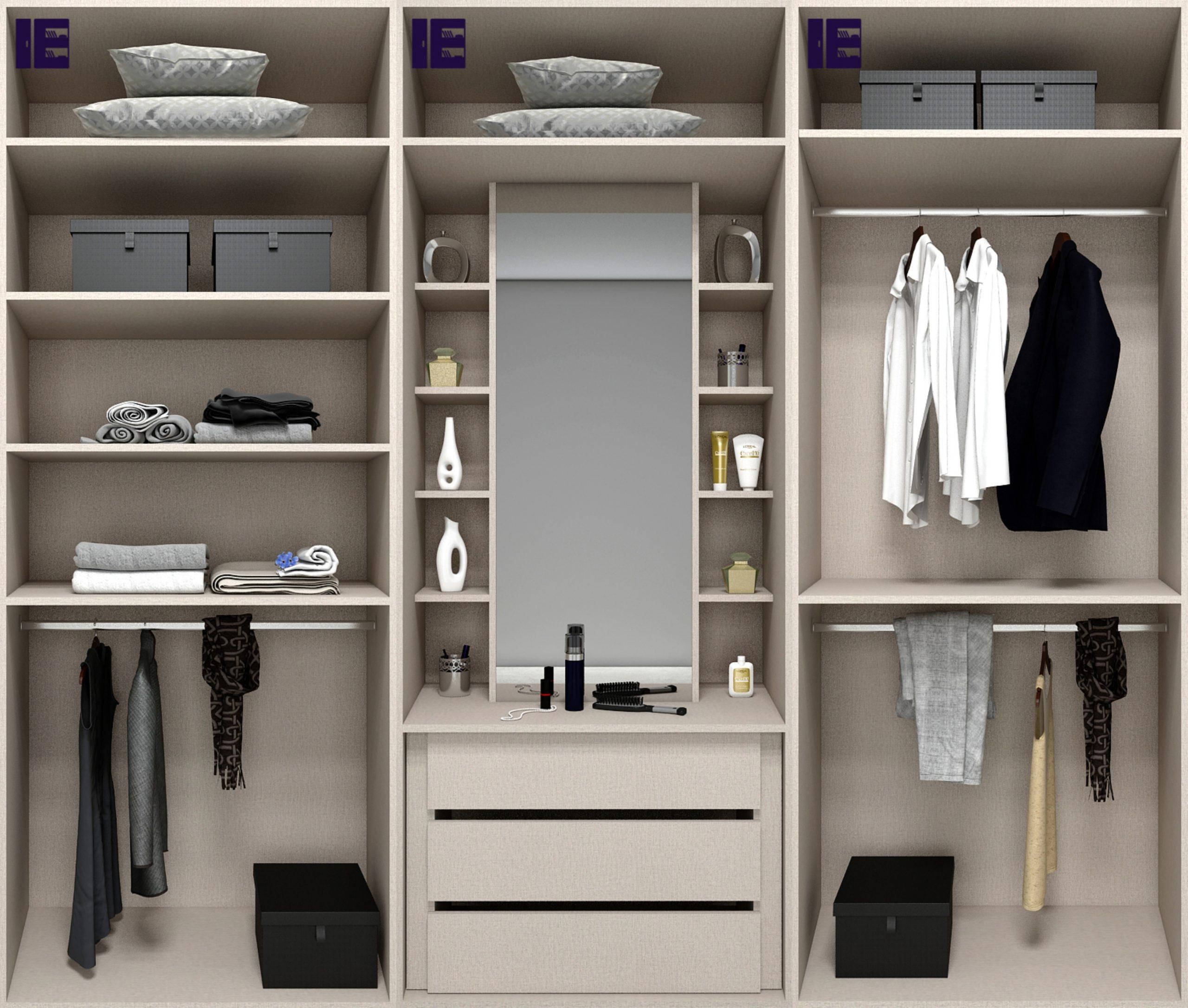 Internal Wardrobe Storage 3m with Mirror