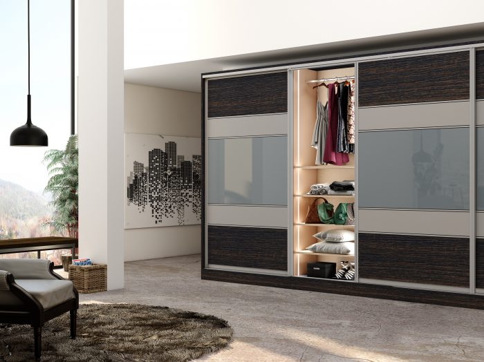 https://www.inspiredelements.co.uk/wp-content/uploads/2021/04/Wooden-sliding-Fitted-Wardrobe-with-five-panels-in-combination-of-Dark-woodgrain-Snow-White-and-light-Grey-Gloss-finish-700x524.jpg