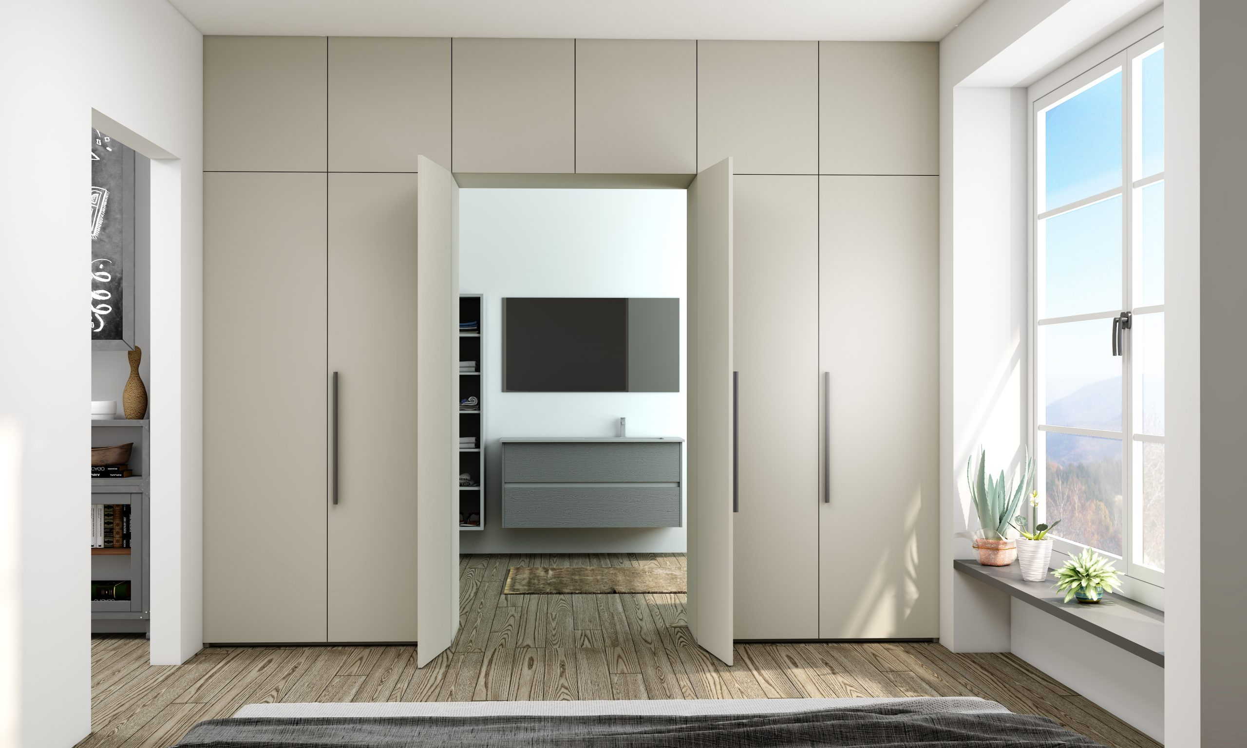Hinge Wardrobes With Access Doors