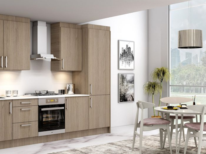 https://www.inspiredelements.co.uk/wp-content/uploads/2021/05/10ft-Easyline-kitchen-with-handle-in-Grey-Vicenza-Oak-finish-1-700x524.jpg