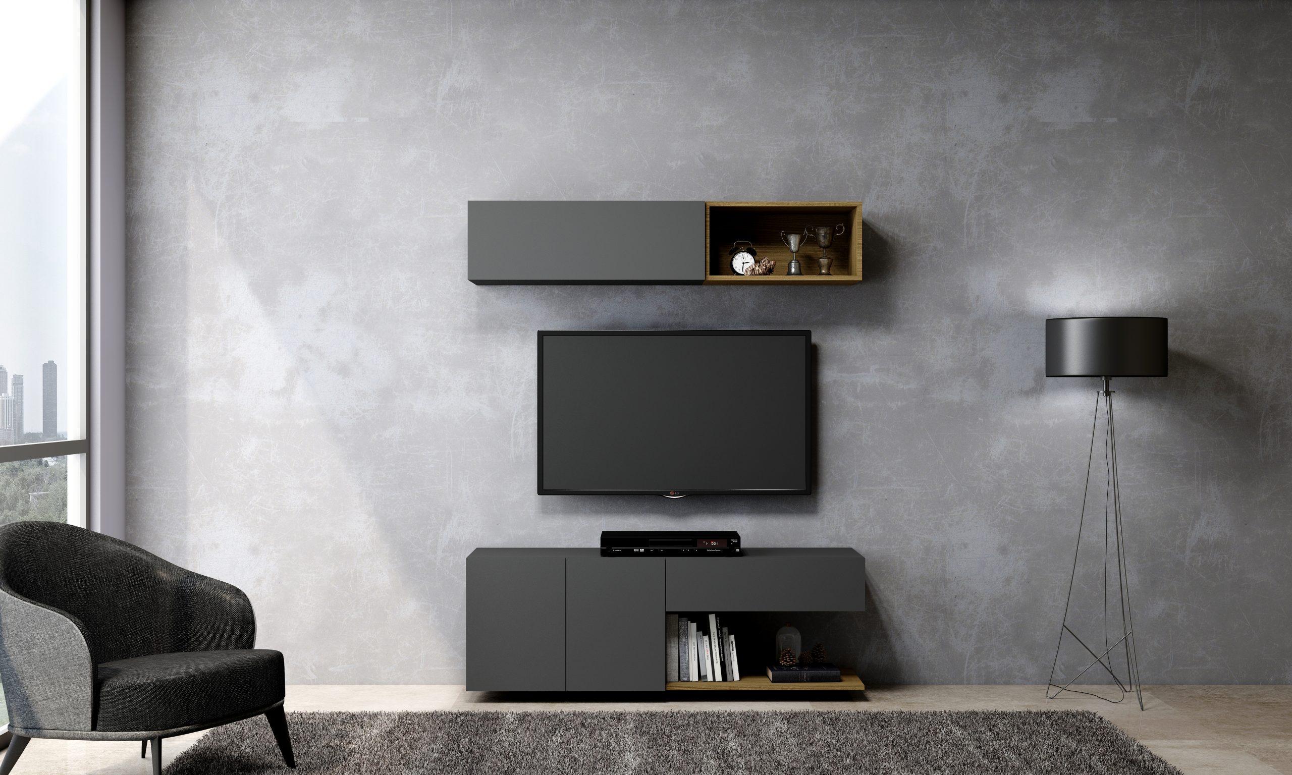 Black TV Storage Units