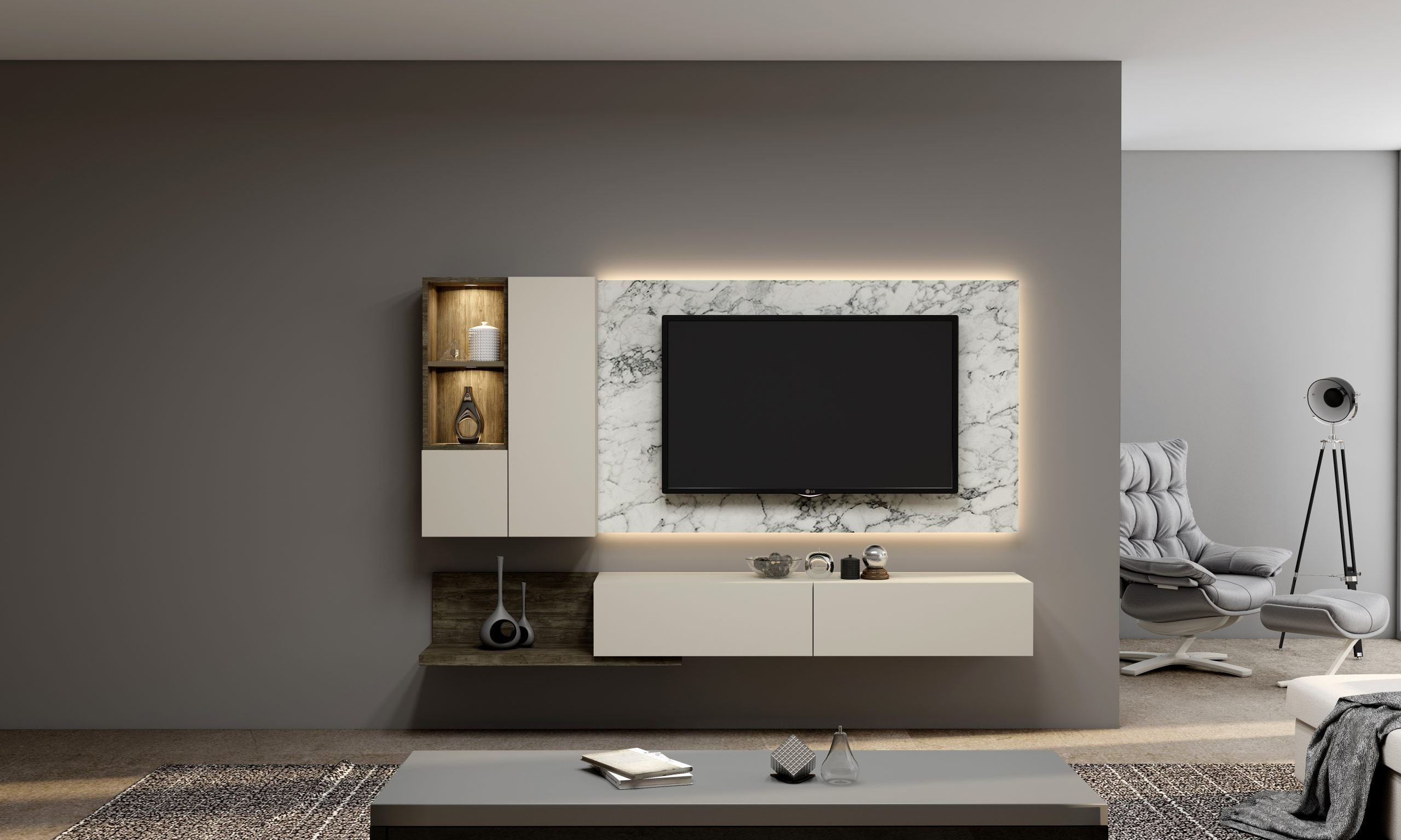 Fitted TV UNIT 2100 MM