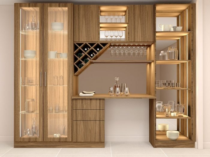 https://www.inspiredelements.co.uk/wp-content/uploads/2021/05/Bar-area-with-glass-framed-wardrobe-and-open-glass-shelf-unit-with-LED-lights-diamond-shape-wine-rack-1-700x524.jpg