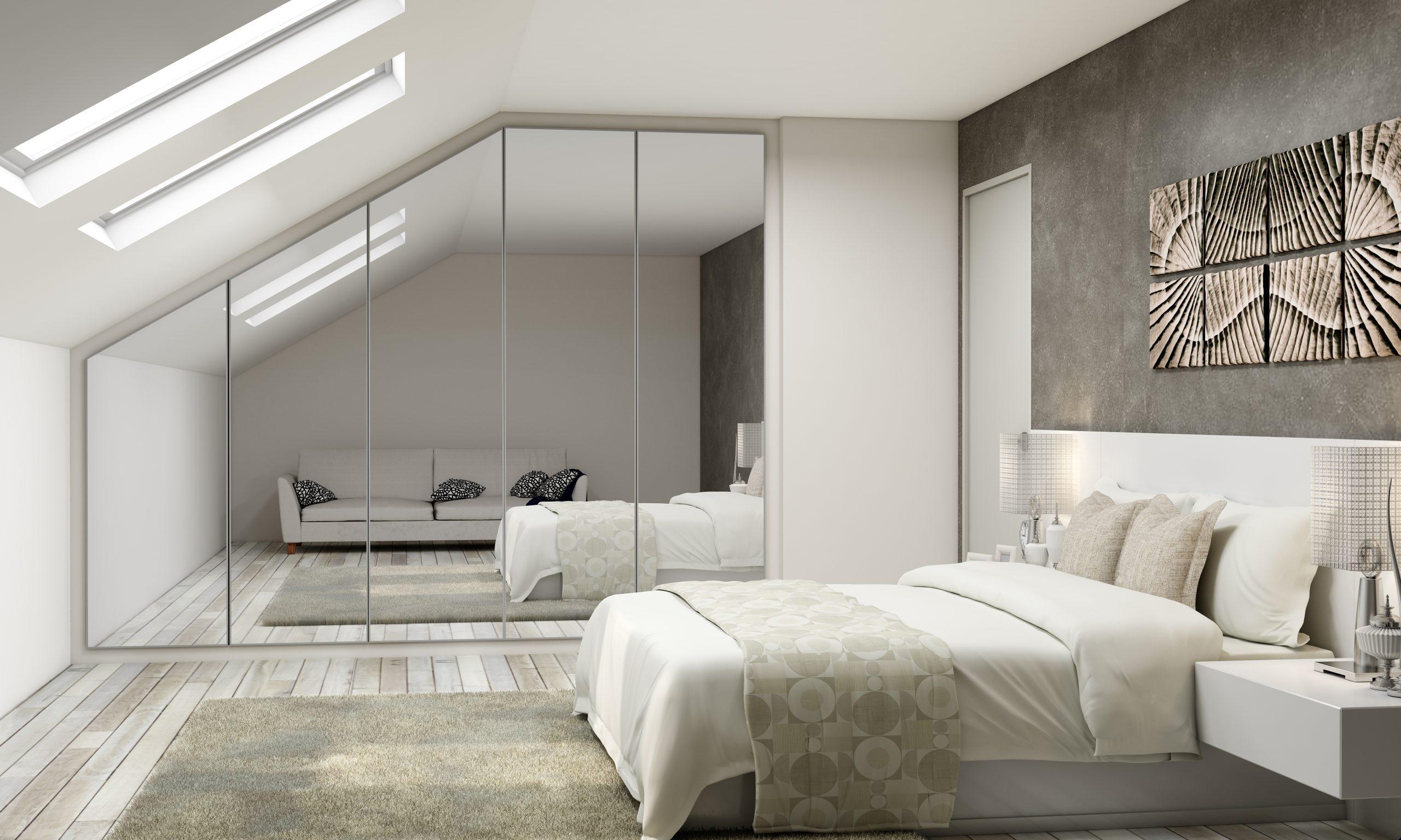 Bespoke Loft conversion with full mirror doors