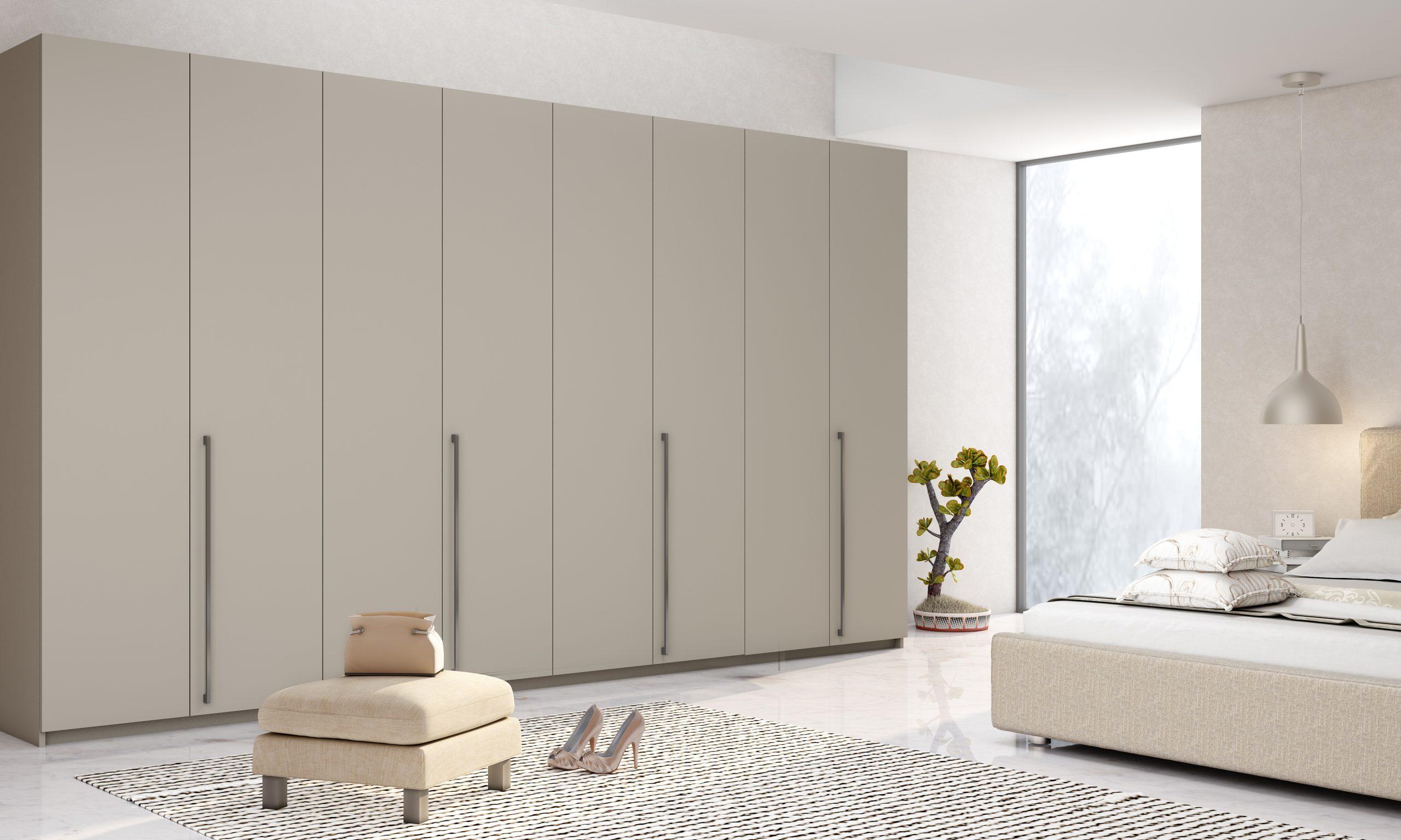 Bi-fold Folding Door Wardrobe in Esperia Light Grey