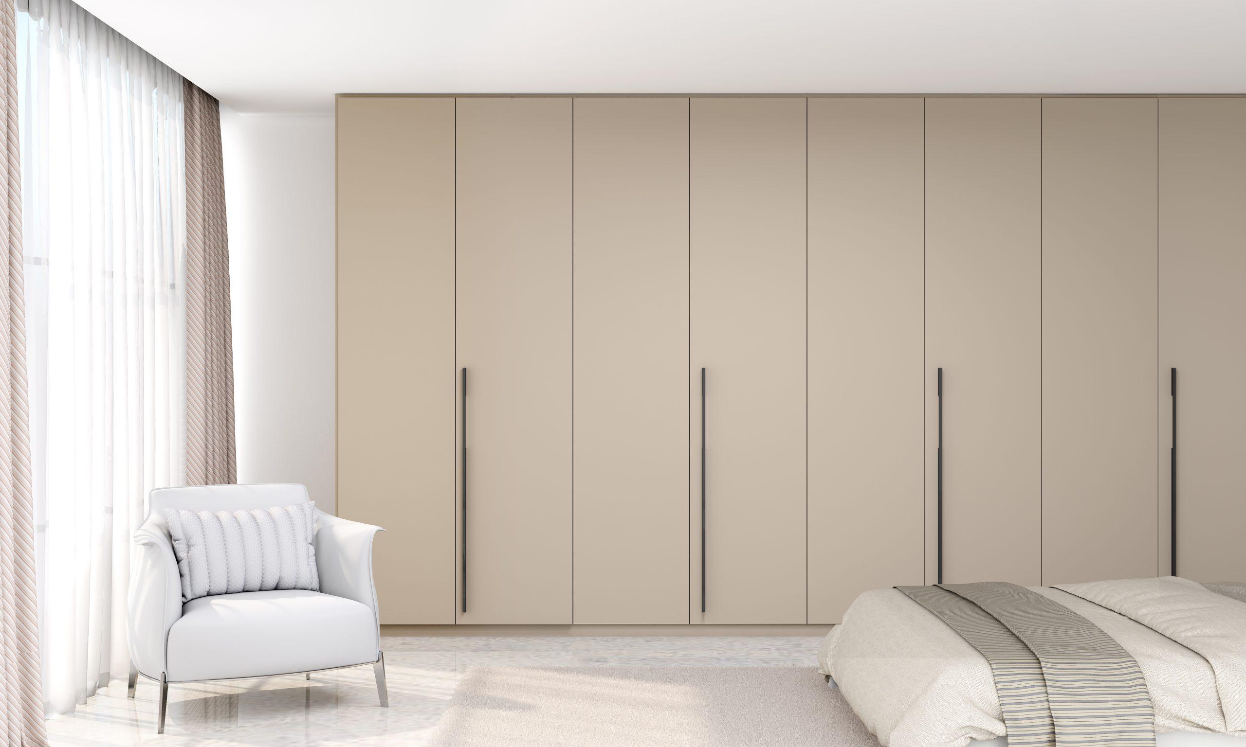 Bi-fold Folding Door Wardrobe in Stone Grey