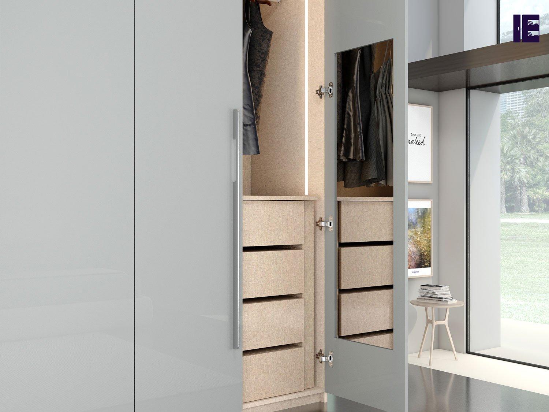 Wardrobe Door in Side Mirror Wardrobe Accessories