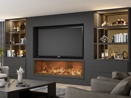Glass TV Units with Storage Solution