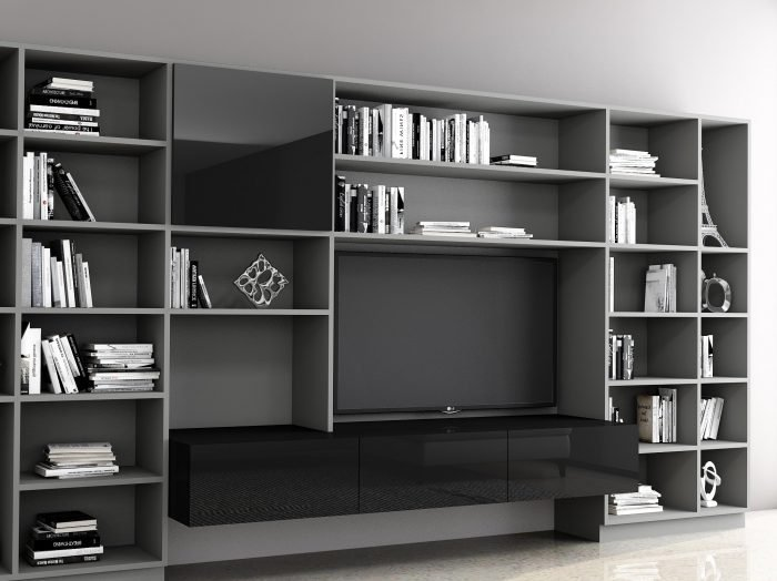 https://www.inspiredelements.co.uk/wp-content/uploads/2021/06/Bespoke-Library-area-with-living-room-TV-section-in-dark-grey-finish-and-black-gloss-finish-2-700x524.jpg
