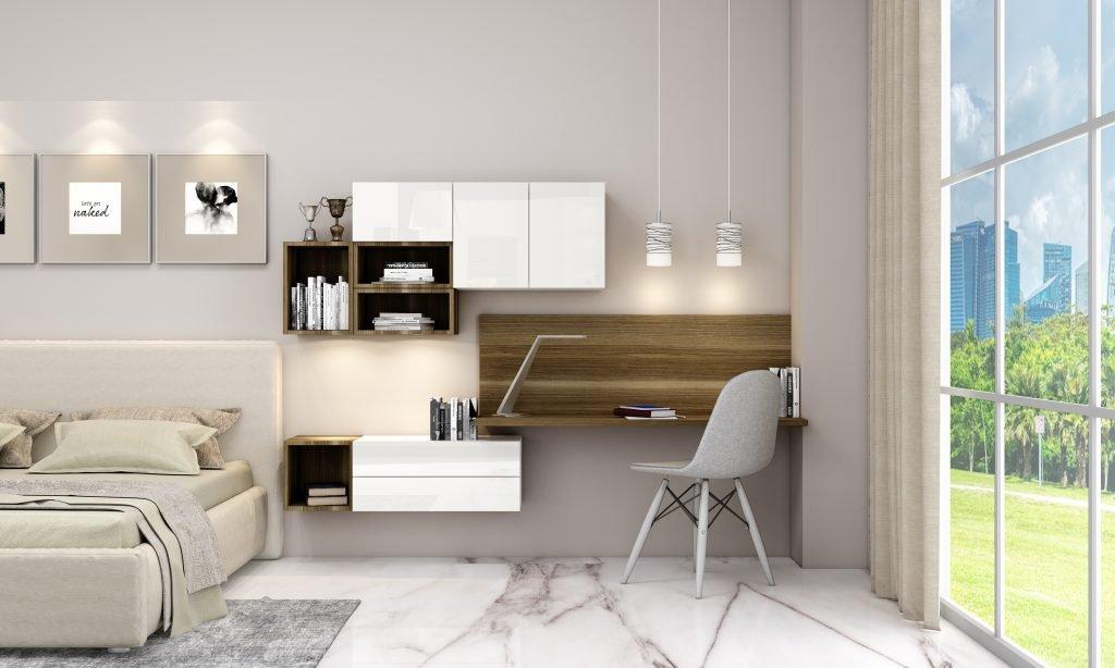 Desk and Study Unit Storage in Combination of Samara Scuro and Alpine White