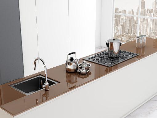 Glass Worktop Kitchens