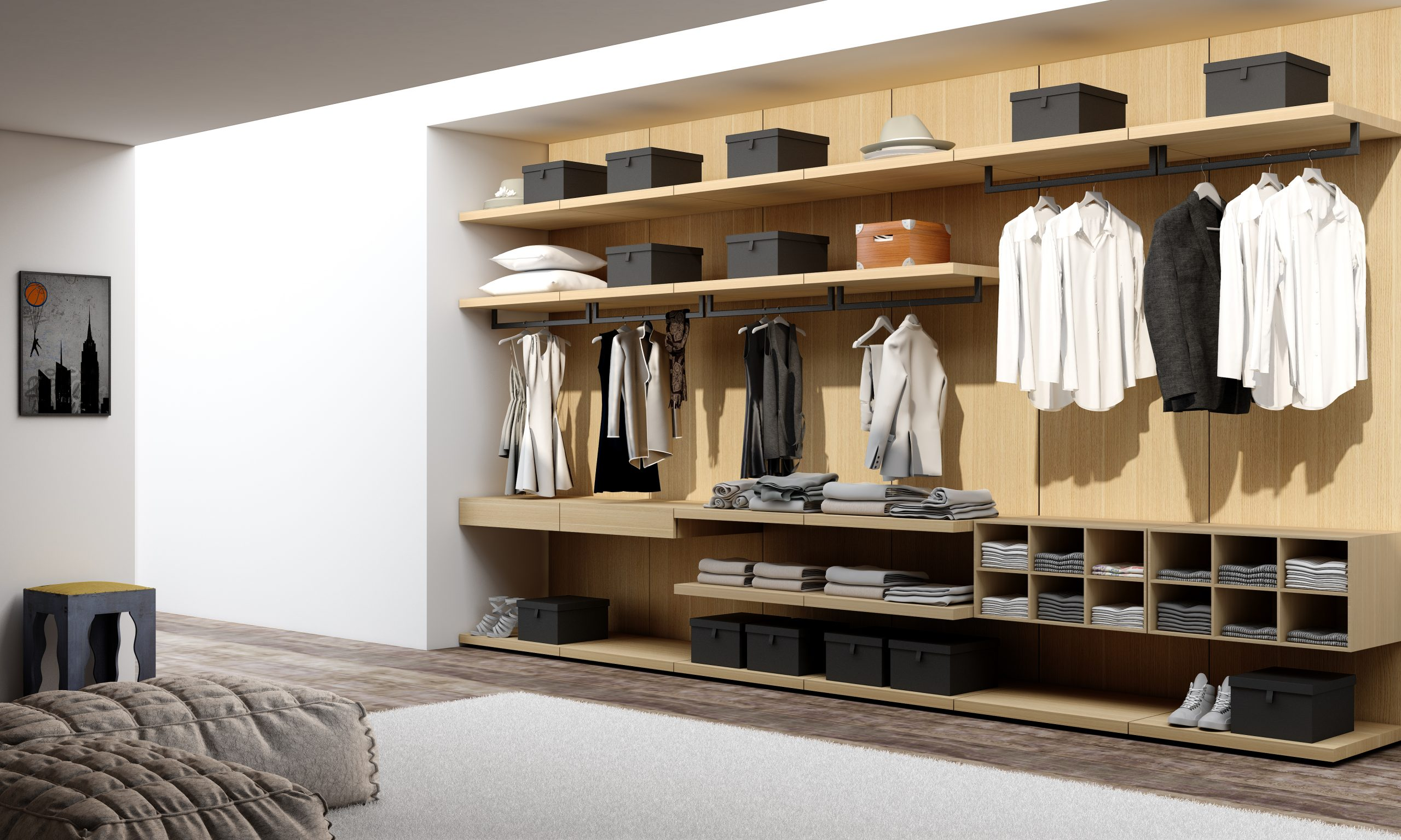 Linear walking wardrobe (2)
