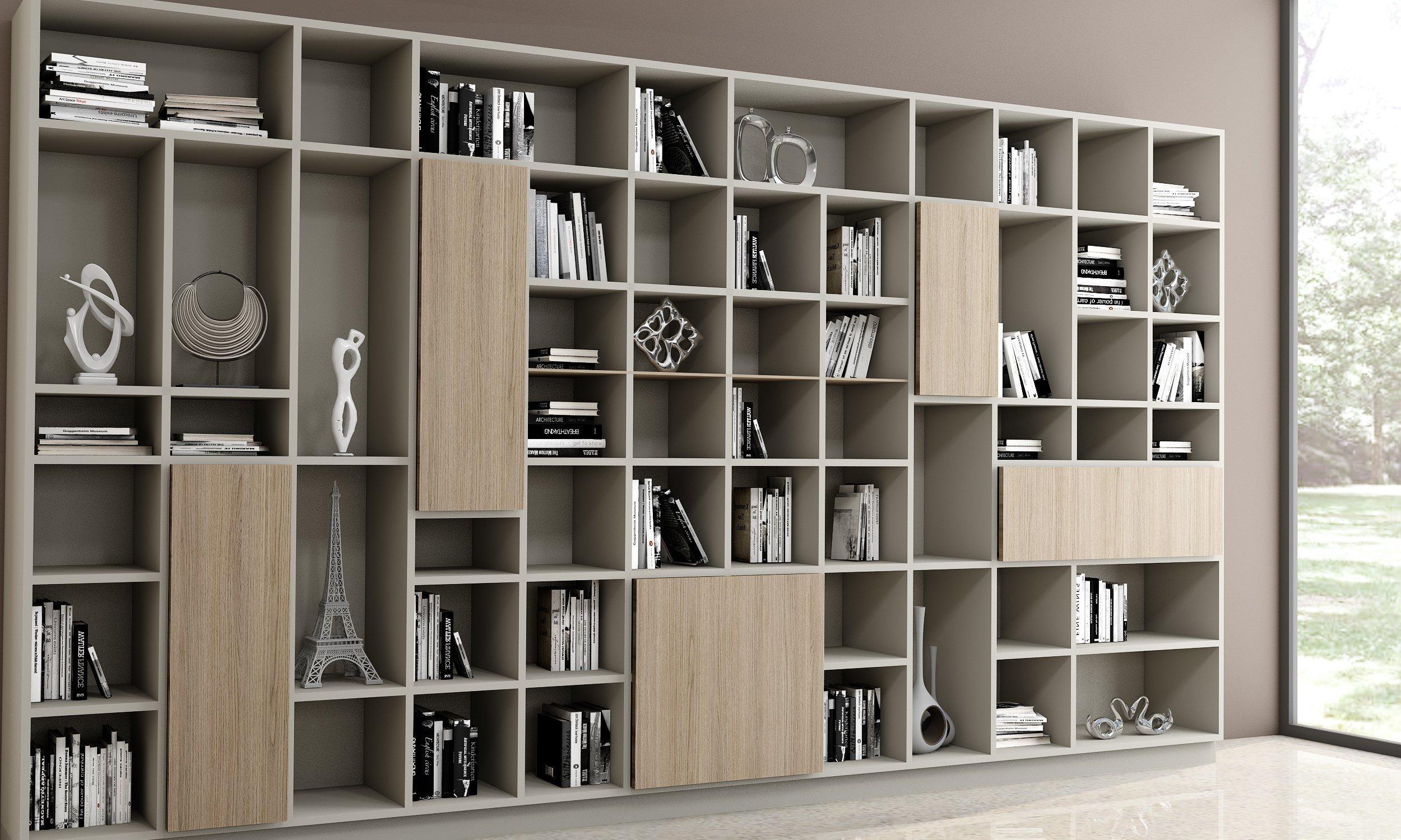 Living room bespoke shelving in woodgrain finish (1)