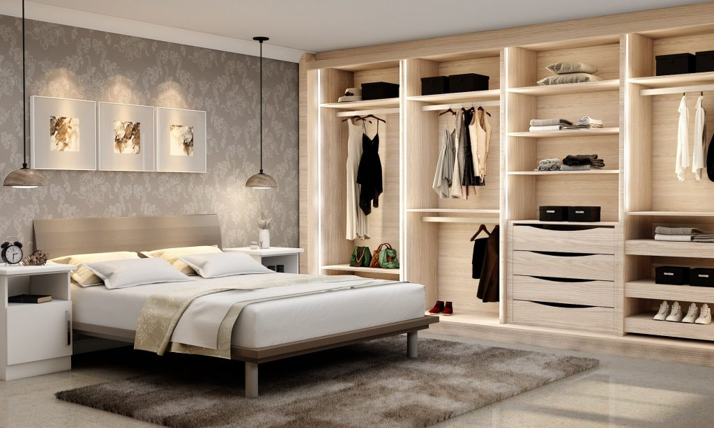 Mirrored Sliding Fitted Wardrobe With Frame Doors in Oak Finish and Mirror Doors