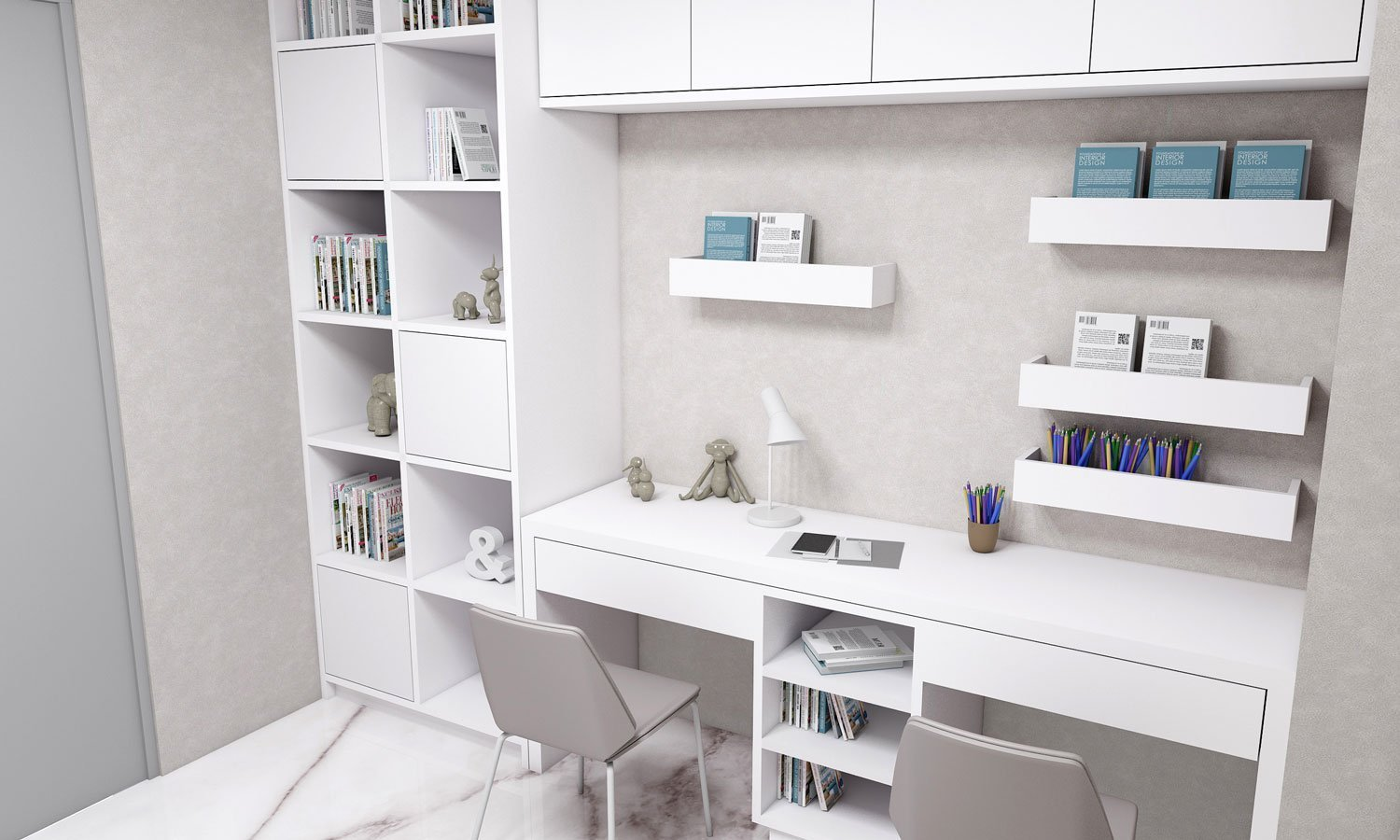 Study Office finished in Glacier White