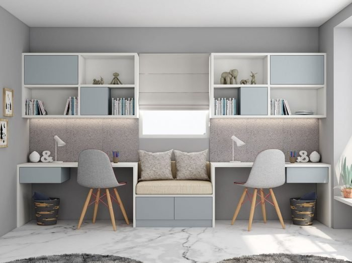 https://www.inspiredelements.co.uk/wp-content/uploads/2021/06/Study-office-finished-in-Light-grey-and-Alpine-White-with-a-cushion-seating-in-centre-1-700x524.jpg