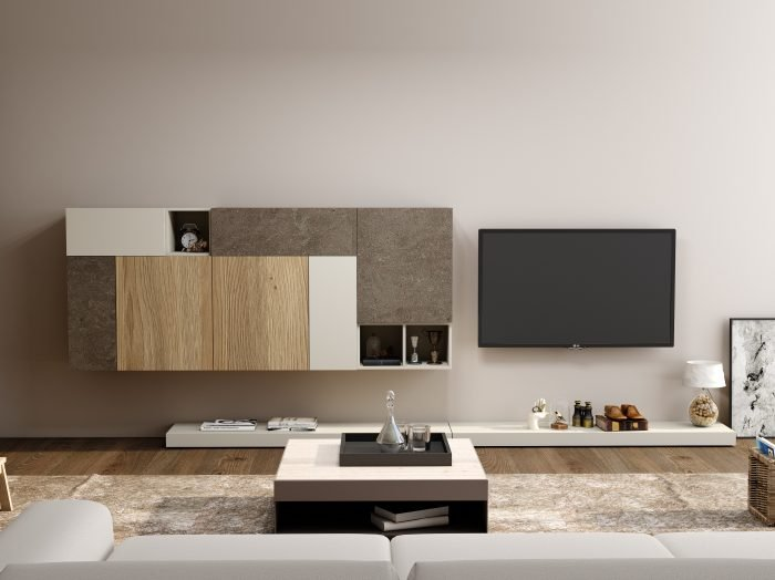 https://www.inspiredelements.co.uk/wp-content/uploads/2021/06/TV-unit-with-Storage-in-Flap-ups-Wall-Units-and-Open-shelf-units-in-Combination-of-WhiteGrey-Beige-Gladstone-Oak-and-Glauco-Ares-2-700x524.jpg