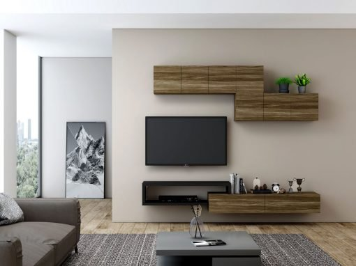 Wooden TV Units with Storage in Open Units