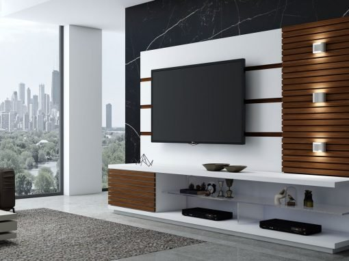Modern TV Units with Storage in Drawers