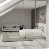 Small Bedroom of Wardrobe With Mirror