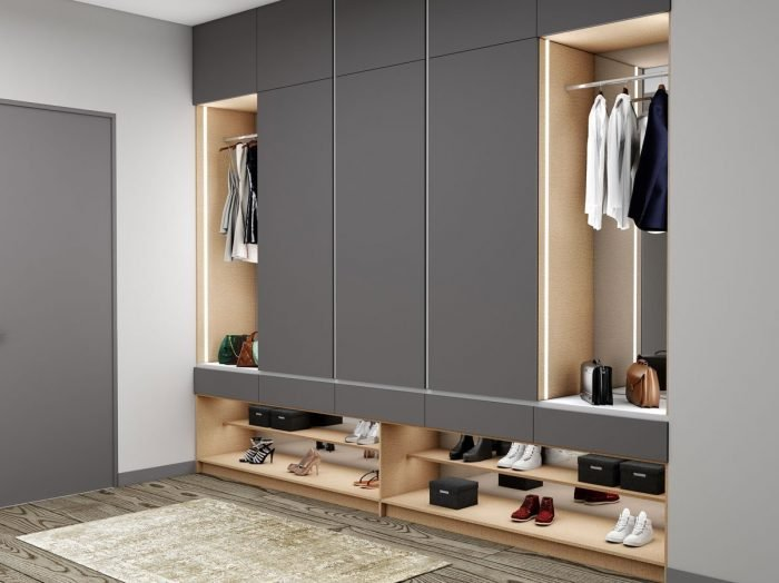 https://www.inspiredelements.co.uk/wp-content/uploads/2021/06/grey-wardrobe-with-shoe-shelf-open-hanging1-700x524.jpg