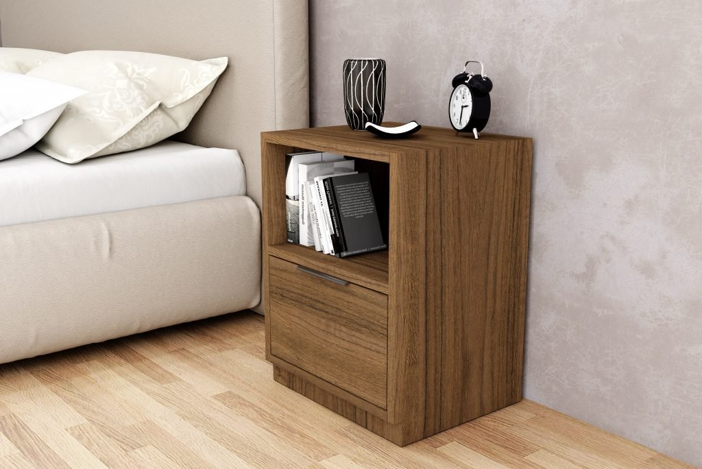 single drawer open bedside cabinets in Antique Brown Borneo