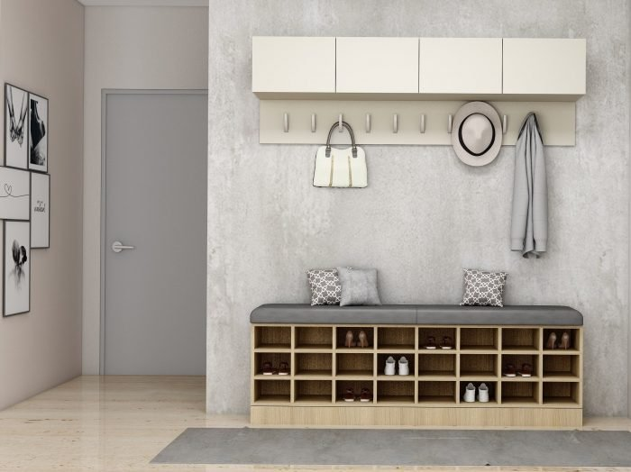 https://www.inspiredelements.co.uk/wp-content/uploads/2021/07/Hallway-with-cushion-seating-storage-and-hangers-In-Rovere-Vanilla-and-light-grey-finish-1-700x524.jpg