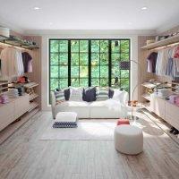 Linear Luxury Walk-in Wardrobe in Confront Penelope Textured Finish